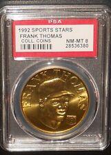 PSA 8 NM-MT 8 - Frank Thomas 1992 Sport Stars Baseball Coins Chicago White Sox