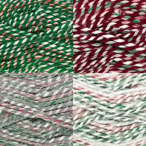 100g Christmas Super Chunky & Free Knitting Pattern King Cole Acrylic Wool Yarn