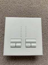 Lutron Rania Double Gang, White, Dimmer, Fade Light Switch