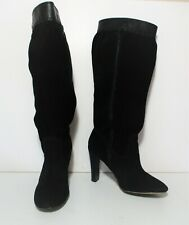 Michael Kors Boots Size 6 1/2M Women black suede leather slouch high heel