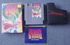 DRAGON WARRIOR 1 NINTENDO ENTERTAINMENT SYSTEM NES COMPLETE TESTED WORKS CIB BOX