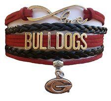 University of Georgia Bulldogs College Infinity Bracelet Jewelry Apparel
