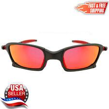Squared X-Metal Sunglasses Polarized UV400 Ruby Iridium Lenses & Metal Frames