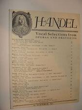 handel Oh Had I Jubal's Lyre from Joshua soprano aria ed. H Heale