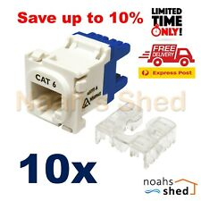 10 x CLIPSAL 2000 Compatible Style CAT6 Data Insert Jack Mech FREE EXPRESS POST