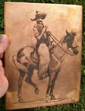 BERNHARDT WALL, COPPER PLATE ENGRAVING—ORIGINAL! Signed/Dated