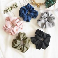 EG_ Lady Hair Scrunchie Ring Elastic Pure Color Bobble Sports Dance Scrunchie No