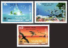 Maldives 1284-1286, MNH. Environment Day. Save water, Conserve nature, 1988