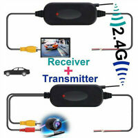 For Car Camera Monitor 2.4G Wireless Rear View Auto Video Transmitter+Receiver