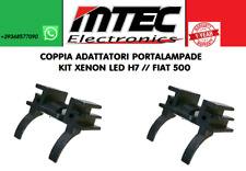 COPPIA ADATTATORI PORTALAMPADE KIT XENON LED H7 // FIAT 500