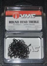 VMC 9651 Short Shank Treble Hooks Size 6 - Pack of 25 9651BN-06 Black Nickel