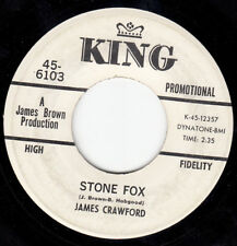 FUNK 45~JAMES CRAWFORD~STONE FOX~KING~PROMO~VG++ ~HEAR BOTH