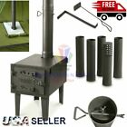 OUTDOOR WOOD BURNING STOVE Steel Camping Survival Tent Grill Cooking Portable photo