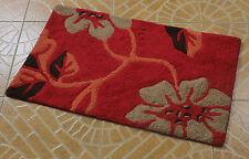 New 100% Cotton Soft absorbent Bedroom Bathroom Floor Shower Bath Mat Rugs  red