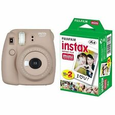 New Model: Fujifilm INSTAX Mini 8 Plus Instant Camera Brown Colour + 20 Film Set