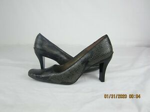 Enzo Angiolini Leather snakeskin Heels  size 8M  Preowned