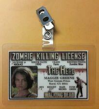 The Walking Dead ID Badge - Zombie Killing License Maggie Greene cosplay costume