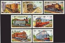 CAMBODGE Kampuchea N°463/469** Locomotives trains 1984, CAMBODIA Sc# 504-510 MNH