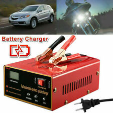 Battery Charger 12V-10A, 24V-7.5A 140W Output LED Display For Electric Car USA