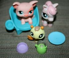 Littlest Pet Shop Lot Lps Firefly Pig & Horse Pony Chair Bowls Accessories Bb#