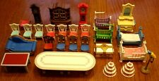 Playmobil Furniture, Chairs, Hutch, Chest, Wedding Cakes, Grandfather Clocks &