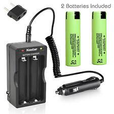 Charger W/Car charger & 2 x Panasonic NCR18650PF High Drain Battery 3.7V 2900mAh