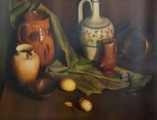 1970 Bernard Burroughs Classicism Still Life w Jugs & Onion Lithograph #S70