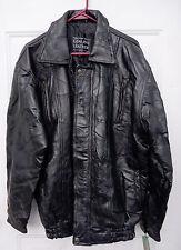 Giovanni Navarre Jet Black Lambskin Leather Mens Patchwork Jacket / Coat XL NWT