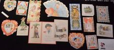 Lot of 17 of antique / vintage Valentines Art Deco Carrington (If-4)