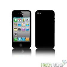 Étuis, housses et coques noirs iPhone 4 en silicone, caoutchouc, gel pour téléphone mobile et assistant personnel (PDA) Apple