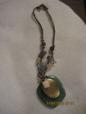 Vintage Avon DECORATIVE SEAFOAM PENDANT Necklace...2006..#596