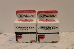 """Kinesio Tex Gold FP Kinesiology Tape (2in) 2"""" Inch X 5-1/2 Yard Red  - Pack of 2"""