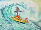 Tom and Jerry Dan Bowden Signed Hanna Barbera Ltd Ed Canvas Print 150 unframed