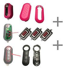 Für Fiat 500 Bravo Schlüssel Funkschlüssel Tastenfeld Gummi + Gehäuse + Taster