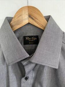 Reid & Taylor Silver Grey Shirt Size 40cm