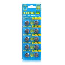10PCS AG13 LR44 357A SR44SW SP76 L1154 RW82 Button Cell Coin Watch Batteries