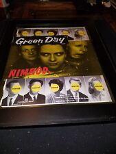 Green Day Nimrod Rare Original Promo Poster Ad Framed!