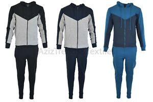 EX boohoo 2 toned tracksuits sets premium quality slim fit hoodie and joggers