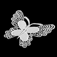 Large Butterfly Lace Sew On Applique Patch Embellishment Sewing Trim Craft
