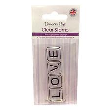 Dovecraft claro sello Amor Scrabble Azulejos-TARJETAS SCRAPBOOKING
