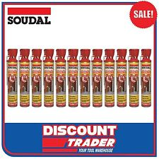 Soudal Genius Gun Gap Filling Expanding Foam Champagne 12 Pack 750ml - 134843x12