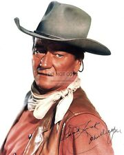 JOHN WAYNE LEGENDARY ACTOR w/  *REPRINT* AUTOGRAPH 8X10 PUBLICITY PHOTO (FB-514)