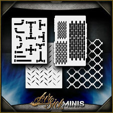 """Mini Industrial Set"" Airbrush Stencil Template Airsick"