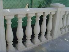 KEYSTONE BALUSTRADE / BALUSTERS AND HANDRAIL CONCRETE W/ IRON ROD CORE