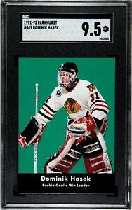 SGC 9.5 1991-92 Parkhurst Dominik Hasek Rookie #449 Green Background MT+