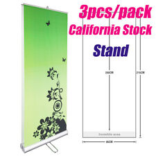 3pcs High Quality Double Sided Roll Up Banner 33w X 79h Stand