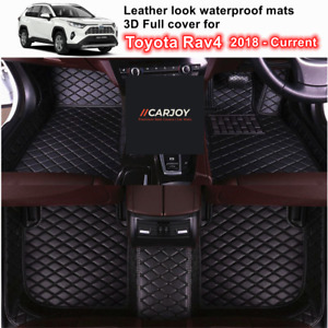 3D Moulded PU leather Waterproof Car Floor Mats for Toyota Rav4 2018 - Current
