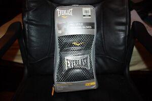Everlast Fresh Pro Style Leather Training Boxing Gloves Size 16 Ounces Black NEW