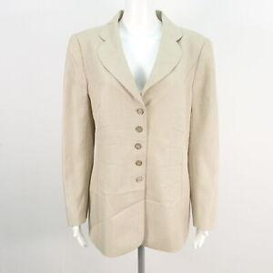 ESCADA Jacke Blazer Damen Schurwolle beige Gr. DE 42 Jackets Coats Cotton