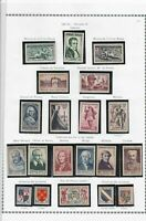 france 1952-53 stamps page ref 19811